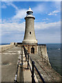 NZ3869 : Tynemouth Lighthouse by David Dixon