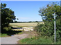 TL2967 : Brook Side Bridleway to Mere Way & Graveley Way by Adrian Cable