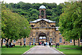SK2670 : Entrance to Chatsworth House, Derbyshire by Christine Matthews