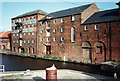 SK7953 : Newark: former Trent Navigation warehouses, 1993 by John Sutton