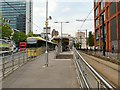 SJ8498 : Piccadilly Gardens tram stop by Gerald England