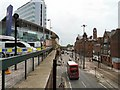 SJ8497 : Looking South down London Road by Gerald England