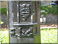 TQ1502 : Town Shield on Lamp Post, Farncombe Road / Church Walk by Josie Campbell