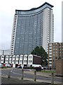 TQ2477 : West Kensington Estate and Empress State Building by Malc McDonald