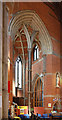 TQ2385 : St Gabriel, Walm Lane, Cricklewood - Tower arch by John Salmon