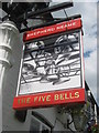 TQ5456 : The Five Bells, Pub Sign, Seal  by David Anstiss