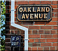 J3774 : Oakland Avenue sign, Belfast by Albert Bridge