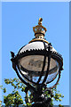 TQ3079 : Lamp, South Bank, London SE1 by Christine Matthews