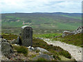 SK2286 : Boundary stone at  Stanage End by Graham Hogg
