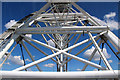 TQ3079 : Structure of the London Eye, London SE1 by Christine Matthews
