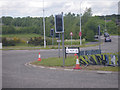 NJ8606 : Roundabout on the way to Aberdeen Airport by C Michael Hogan