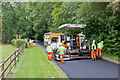 SU5425 : Resurfacing works on Longwood Road by Peter Facey