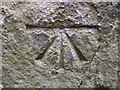 SE9482 : 1GL bench mark and bolt on All Saints' church by John S Turner