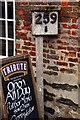 SW9175 : Railway mile post outside the Shipwrights Inn by Steve Daniels