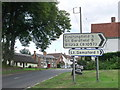 TL6435 : Road signs at Great Sampford, Essex by nick macneill