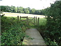 TQ4399 : Footbridge to Birch Wood by Roger Jones