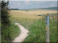 TQ4603 : Bridleway towards Glynde by Oast House Archive