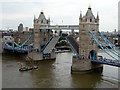 TQ3380 : Thames Barge approaching Tower Bridge, London by Christine Matthews