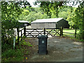 TQ0325 : A bin at Shurlands Farm by Robin Webster