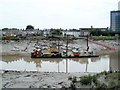 ST3188 : Dredging the River Usk, Newport by Jaggery