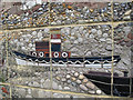 TQ3978 : Thames Workers mural: detail  by Stephen Craven