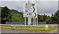 J3477 : Fortwilliam roundabout sign, Belfast (4) by Albert Bridge
