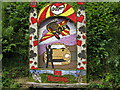 SK1444 : Middle Mayfield Well Dressing in Hollow Lane by Josie Campbell