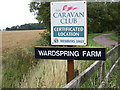 TM4062 : Wardspring Farm & Caravan Club signs by Adrian Cable
