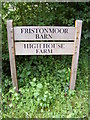 TM4062 : Friston Moor Barn &amp; High House Farm signs by Adrian Cable