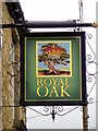 NZ1025 : Sign for the Royal Oak by Miss Steel