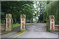 SD9108 : The gates of Royton Cemetery by Bill Boaden