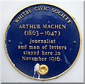 Photo of Arthur Machen blue plaque