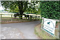 SK1007 : Aldershawe Livery Yard Entrance with Horses by Mick Malpass