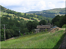 SE0024 : Cragg Vale - view to Clough Foot by Dave Bevis