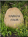 TM4264 : Harrow Farm sign by Adrian Cable