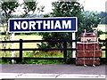 TQ8326 : Northiam station nameboard by nick macneill