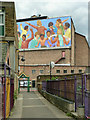 TQ3175 : High-level mural, Brixton by Robin Webster