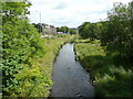 SE0026 : The River Calder from Hawks Clough Bridge, Mytholmroyd by Humphrey Bolton