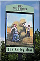SU5495 : Barley Mow inn sign by Philip Halling