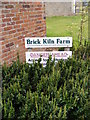 TG0723 : Brick Kiln Farm sign by Adrian Cable