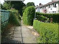 SE0026 : Housing estate path, Mytholmroyd by Humphrey Bolton