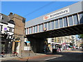 TQ2484 : Bridge over Kilburn High Road, NW6, at Brondesbury station by Mike Quinn