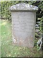 NJ5210 : Tragic tombstone at Leochel-Cushnie by Stanley Howe