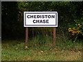 TM3677 : Chediston Chase sign by Adrian Cable