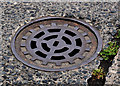 J3774 : Circular drain cover, Belfast by Albert Bridge