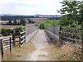 SK3829 : Bridleway bridge over the A50 by Ian Calderwood