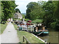ST7766 : Canal boats moored on the Kennet and Avon canal by Rob Purvis