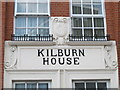 TQ2483 : Detail above an entrance to Kilburn House, Malvern Place, NW6 by Mike Quinn