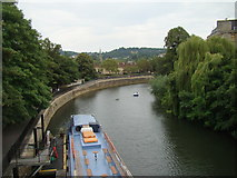ST7564 : Looking southeast down the Avon towards Bath Spa by Robert Lamb
