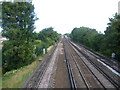 TQ4467 : Looking up the line towards Petts Wood station by Ian Yarham